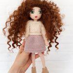Lala Ada na szydełku i sweterki dla lali na drutach