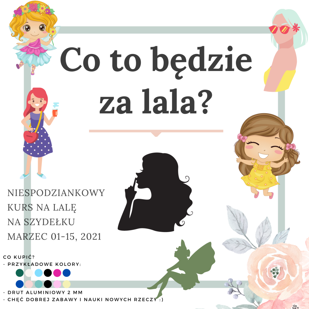 Kurs niespodzianka na lalę na szydełko po polsku - amigurumi